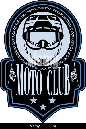 motorcycle club badge logo emblem vector template stock vector art
