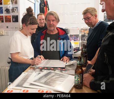 Edinburgh, Scotland. 13th August, 2018. Kathryn Joseph performs tracks from her new album 'From When I Wake The Want Is' at Assai Records in Edinburgh. Credit: Ben Collins/Alamy Live News - Stock Photo