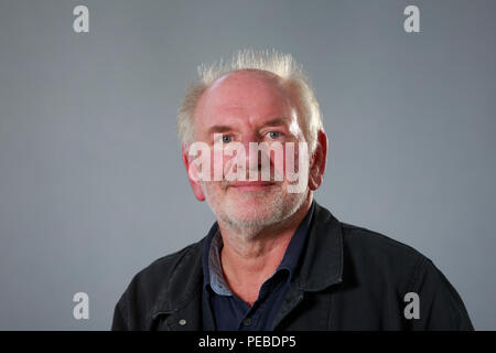Edinburgh, Scotland. UK. 14 August 2018. Edinburgh International Book Festival. Pictured: Tom Pow. Pako Mera/Alamy Live News. - Stock Photo