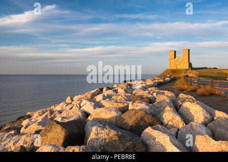 Reculver Towers on the North Kent coast, UK. - Stock Photo