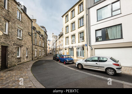 Cherbourg-Octeville, France - May 22, 2017: View of the uninhabited street of Spain (Rue d'Espagne) in Cherbourg-Octeville, Normandy, France. Vacation - Stock Photo