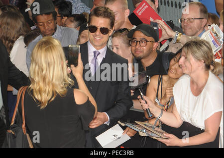 The UK Premiere of 'Mission: Impossible – Fallout' held at the BFI IMAX - Arrivals  Featuring: Tom Cruise Where: London, United Kingdom When: 13 Jul 2018 Credit: WENN.com - Stock Photo