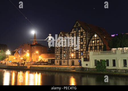 Nightime in Bydgoszcz - Stock Photo