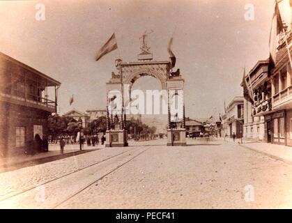 Arco de los españoles Valparaíso Guerra del pacifico. - Stock Photo