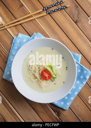 Korean food bean noodles, cold bean-soup noodles