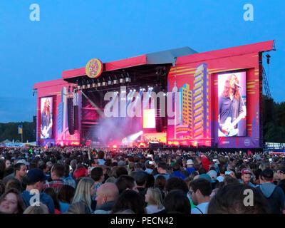 Foo Fighters, Konzert, Lollapalooza, Festival, Hoppegarten, Brandenburg, Deutschland - Stock Photo