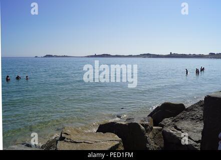 Pembroke Bay, Guernsey - Stock Photo