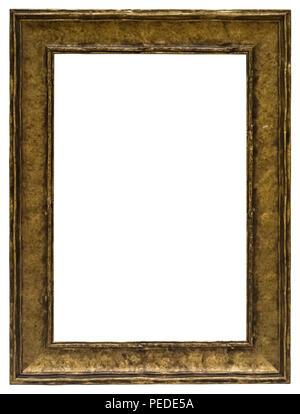 Goldener Bilderrahmen mit tollem Profil für elegante Gutscheine oder als prächtige Umrandung von Bildern Stock Photo