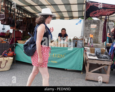 Hay On Wye Wales UK Traditional Country life Market - Stock Photo