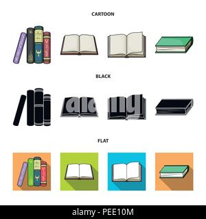 Various kinds of books. Books set collection icons in cartoon,black,flat style vector symbol stock illustration . - Stock Photo