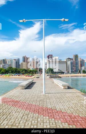 FORTALEZA, BRAZIL - MARCH 1, 2018: Coast Line of Fortaleza, Ceara State, city of northeast of Brazil . - Stock Photo