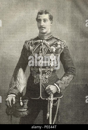 Prince Albert Victor, Duke of Clarence and Avondale, eldest child of the Prince of Wales later King Edward VII, second in line to the British throne, died before his father - Stock Photo