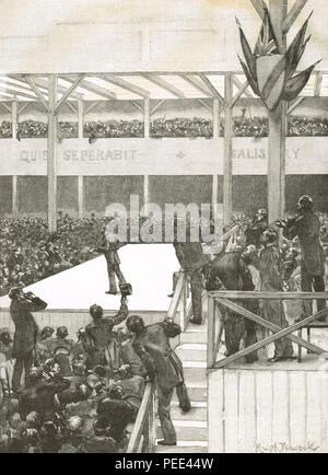 The Great Ulster convention, 17 June 1892.  A demonstration in Belfast against home rule - Stock Photo