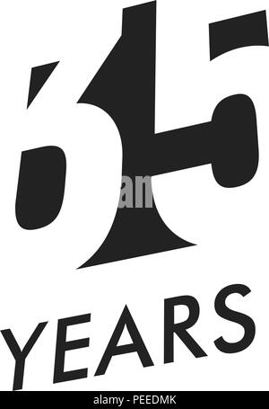 Thirty Years Vector Emblem Template Anniversary Symbol Negative