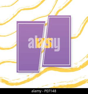 VS screen. Versus card. Vector illustration. - Stock Photo