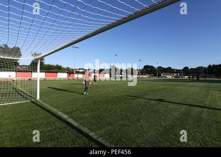 General view of the ground during AFC Hornchurch vs Arsenal Under-23, Friendly Match Football at Hornchurch Stadium on 31st July 2018 - Stock Photo