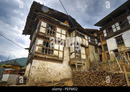 Photo taken in Bhutan and showing unique culture and reiligion. - Stock Photo
