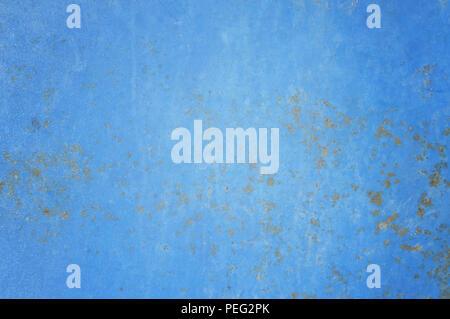 rust on blue steel or rusted metal texture - Stock Photo