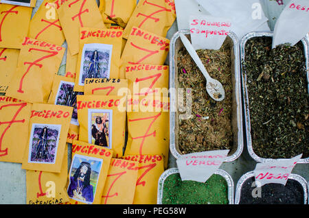 Preparation of incense sold for being burned during Holy Week or New Year Eve in Panama - Stock Photo