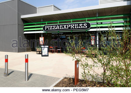 Exterior Of The Pizza Express Restaurant At Rushden Lakes