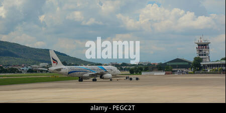 Chiang Mai, Thailand - Jun 22, 2016. View of Chiang Mai Airport (CNX). The airport is at an elevation of 316 metres above mean sea level. - Stock Photo