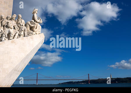 Monument to the Discoveries, Belém, Lisbon, Portugal - Stock Photo