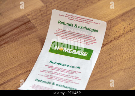 Poole, UK. 15th August 2018. The Tower Park Homebase store is one of the 42 set to close in the near future. Hilco, which bought the DIY chain for £1 in May, confirmed it was planning a Company Voluntary Arrangement (CVA). Credit: Thomas Faull/Alamy Live News - Stock Photo