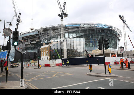 London, UK. 15th Aug 2018. Tottenham's move into their new stadium has been put back until at least the end of October as the ground will not be finished in time. Spurs are now exploring the possibility of postponing their home match against Manchester City on October 28th as their temporary home Wembley is already booked up on that date. The £850million ground had originally been expected to be ready for the clash with Liverpool on September 15. Credit: Nigel Bowles/Alamy Live News - Stock Photo