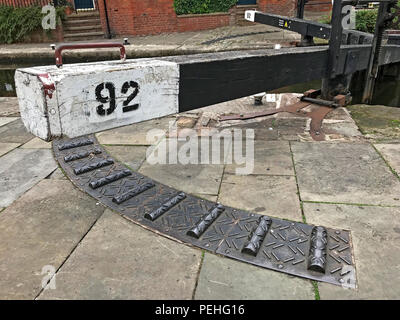 Lock 92, Rochdale Canal, Castlefield, Manchester, North West England, UK, M3 4LZ - Stock Photo