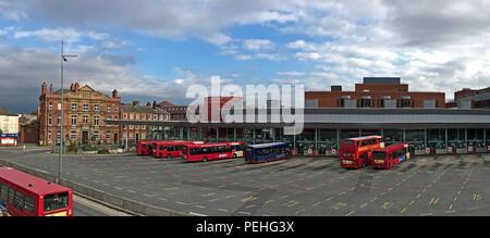 Warrington Interchange / Warrington Bus Station, 7 Winwick St, Cheshire, North West England, UK, WA1 - Stock Photo