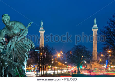 PLACE DE LA NATION, PARIS, FRANCE - Stock Photo