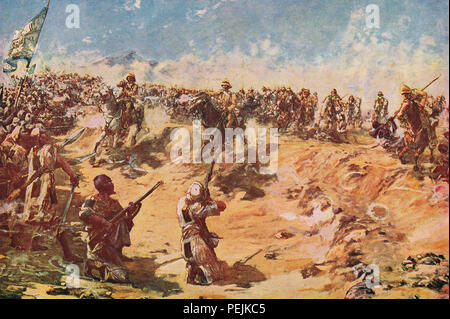 The charge of the 21st Lancers, the Battle of Omdurman, 2 September 1898 - Stock Photo
