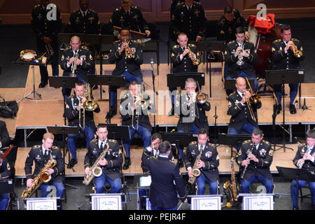 The 282nd Army Band put on a free holiday concert at the Koger