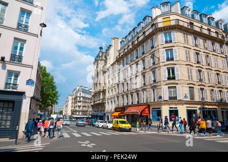 Rue Saint Jacques, Sorbonne district, Paris, France - Stock Photo