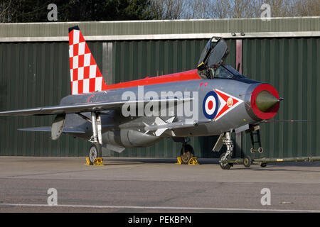 English Electric Lightning F3 in RAF 56 Squadron Markings - Stock Photo