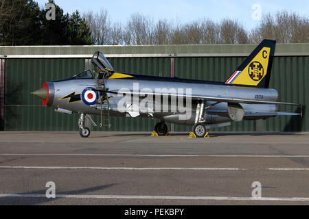 English Electric Lightning F3 in RAF 111 Squadron markings - Stock Photo