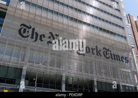 New York Times buiilding in New York City - Stock Photo