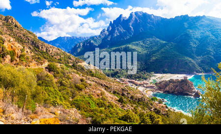 Incredible nature in Corsica island,France - Stock Photo