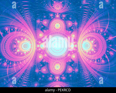 Abstract blue and purple pattern - digitally generated image - Stock Photo