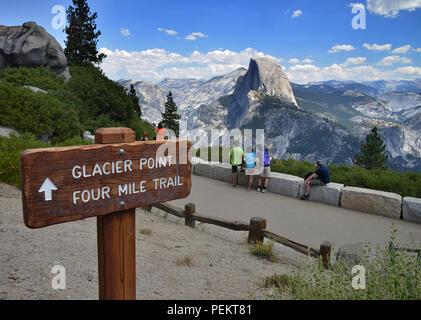 USA, California, Half Dome, Yosemite National Park - Stock Photo