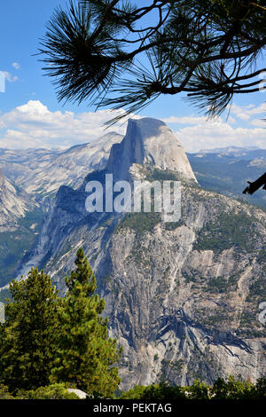 USA, California, Half Dome in Yosemite National Park - Stock Photo