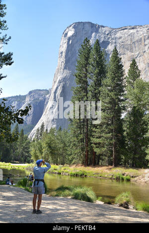 USA, California,  Yosemite Valley  in the Yosemite National Park - Stock Photo
