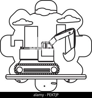 line industry excavator equipment construction service - Stock Photo