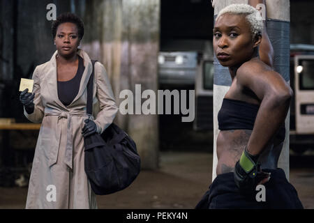 RELEASE DATE: November 16, 2018 TITLE: Widows STUDIO: Twentieth Century Fox DIRECTOR: Steve McQueen PLOT: Set in contemporary Chicago, amidst a time of turmoil, four women with nothing in common except a debt left behind by their dead husbands' criminal activities, take fate into their own hands, and conspire to forge a future on their own terms. STARRING: VIOLA DAVIS as Veronica Rawlins, CYNTHIA ERIVO as Belle. (Credit Image: © Twentieth Century Fox/Entertainment Pictures) - Stock Photo