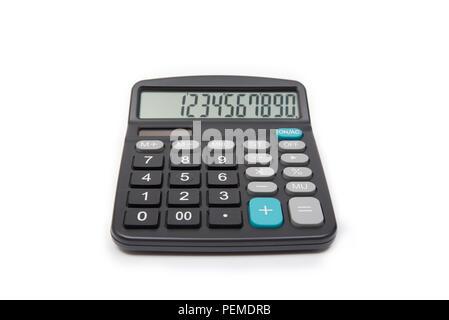 Calculator isolated on white background. Calculating machine. - Stock Photo