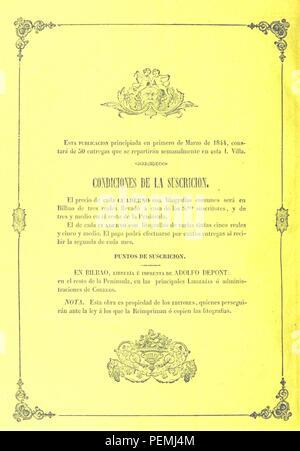 Historic archive Image taken from page 524 of 'Revista pintoresca de las provincias Bascongadas. Edicion de lujo. Adornada con vistas ... por S. Lambla. Escrita por L. M. de E. y A. A. y H. Entrega 1-45' - Stock Photo