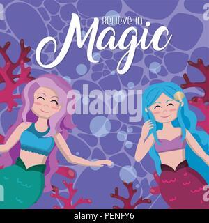 Believe in magic cartoons - Stock Photo