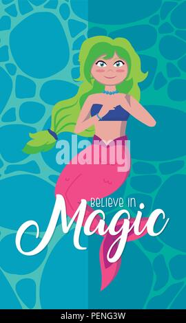 Believe in magic cartoons - Stock Photo