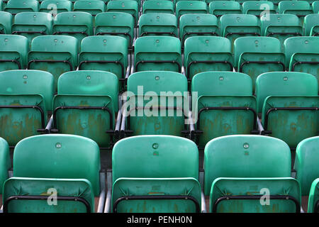 General view of the empty seats ahead of Essex CCC vs Warwickshire CCC, Specsavers County Championship Division 1 Cricket at The Cloudfm County Ground - Stock Photo