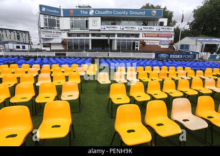 General view of empty seats on front of the pavilion ahead of Essex Eagles vs Glamorgan, NatWest T20 Blast Cricket at The Cloudfm County Ground on 16t - Stock Photo